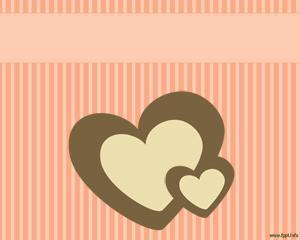 Corazón en rayas PPT PPT Template