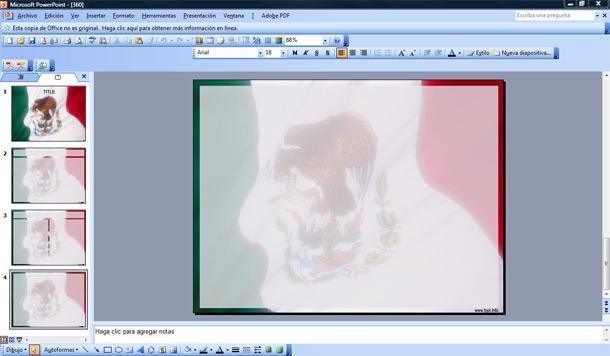 bandera de mexico plantilla powerpoint