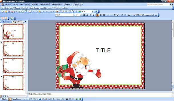 Plantilla Ppt Para Saludos De Navidad Plantillas Powerpoint Gratis