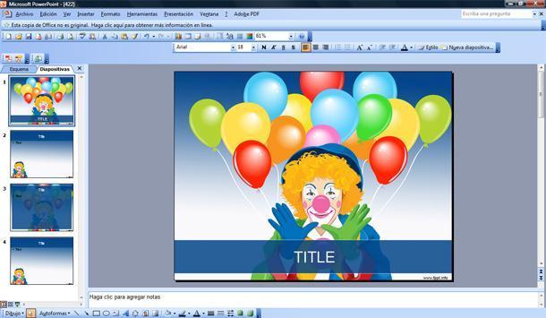 circus clown powerpoint