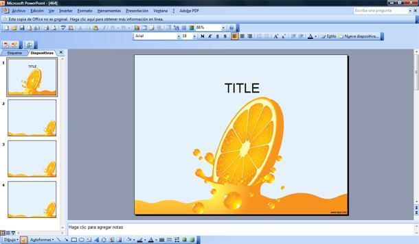 jugo de naranja powerpoint