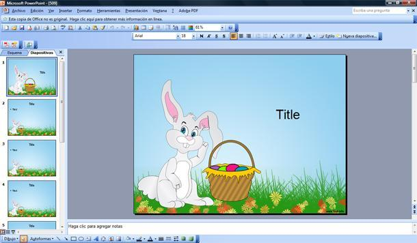 felices pascuas powerpoint template