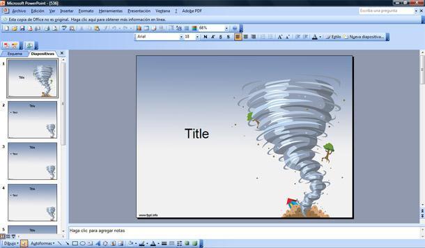 tornado plantilla powerpoint