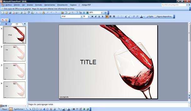 vino tinto powerpoint