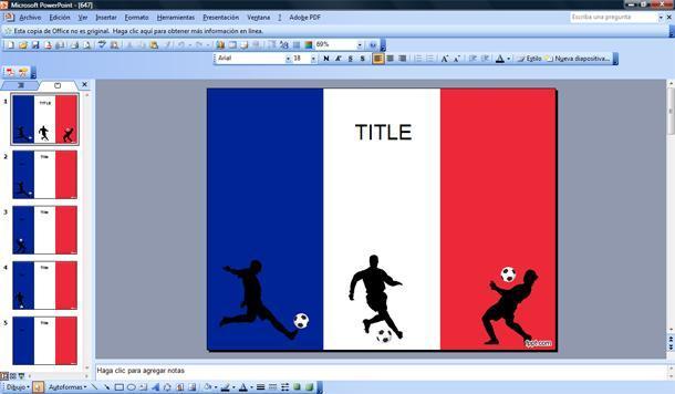 Fútbol Francés Plantilla PowerPoint | Plantillas PowerPoint Gratis