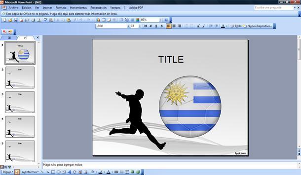 f u00fatbol de uruguay plantilla powerpoint