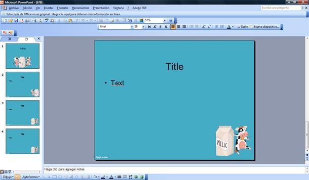 Leche Plantilla PowerPoint | Plantillas PowerPoint Gratis