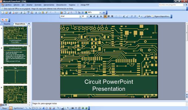 plantilla powerpoint de circuito electr u00f3nico