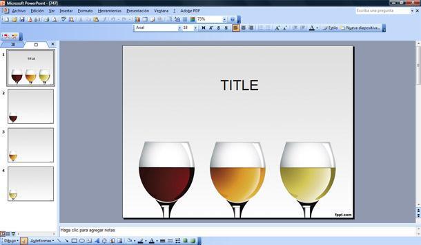 copas de vino plantilla powerpoint