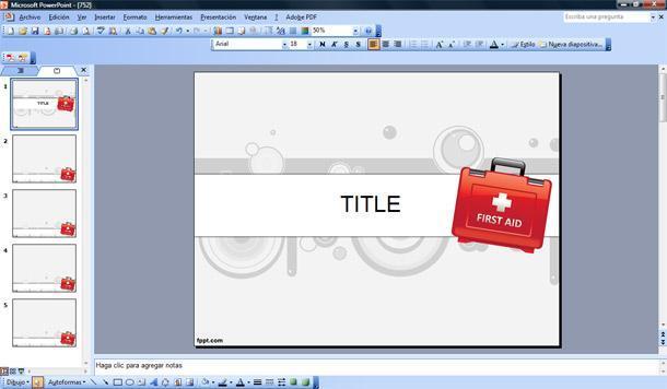 Primeros Auxilios Plantilla PowerPoint | Plantillas PowerPoint Gratis