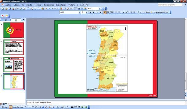 bandera de portugal powerpoint