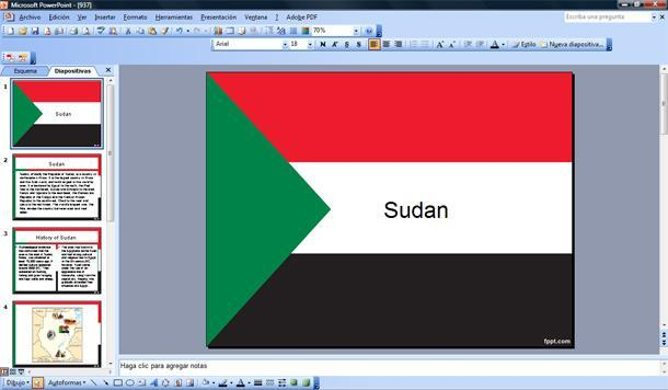 bandera de sud u00e1n powerpoint